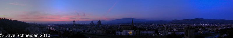 Florence - Sunset from Piazzale Michelangelo