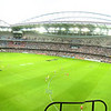 AFL teams Richmond vs. St. Kilda in the 2008 NAB Cup. The game was played in the Telstra Dome (which is now called Ethiad Stadium).