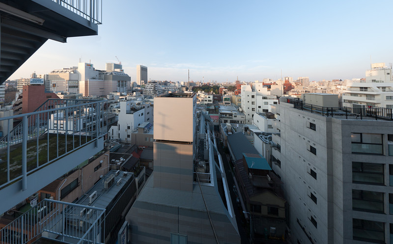 View of Asakusa, Tokyo from Asakusa Central Hotel window