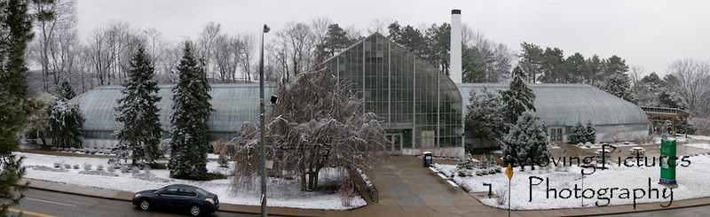 Krohn Conservatory after a dusting of snow