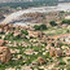 Panorama from the top of Matanga Hill, Hampi, Karnataka, India.