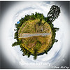 Nanaimo City Estuary. Small Planet effect..The Gary Oak stands tall