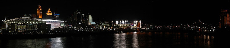 Cincinnati Skyline - Paul Brown Stadium & Great American Ballpark