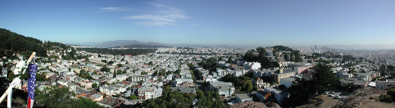 Tank Hill looking down into San Francisco