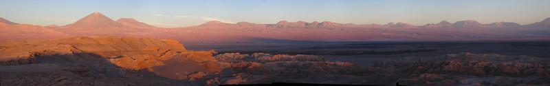 Valley of the Moon (with the Licanbur volcano on the left), San Pedro de Atacama, Chile