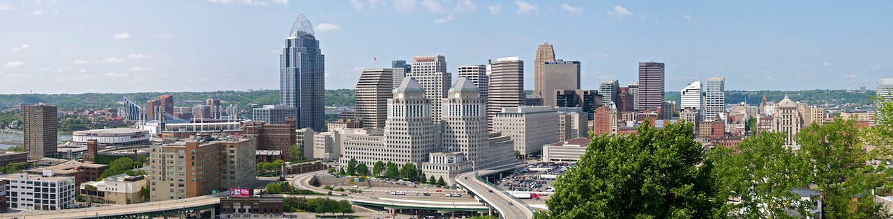 Cincinnati Skyline from Mt Adams - business core