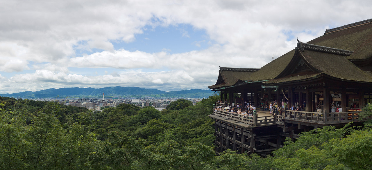 The main stage at Kiyomizu-dera temple in Kyoto