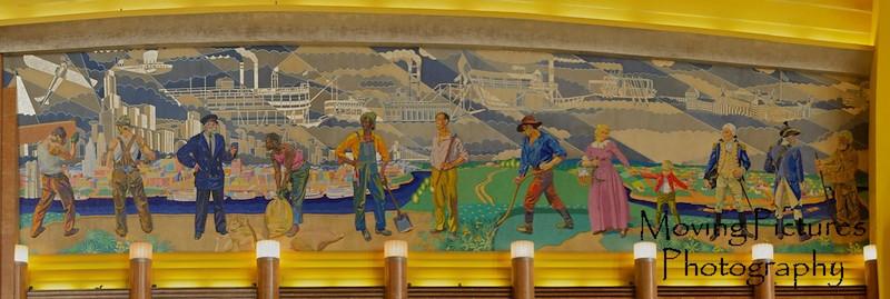 One of two mosaic murals in rotunda of Cincinnati Museum Center
