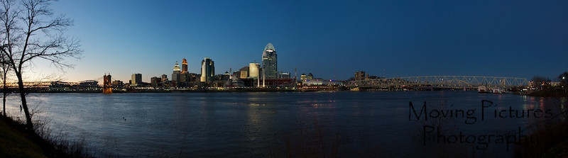 Cincinnati Night Skyline - January, 2012
