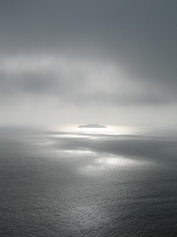 Alcatraz in the fog.
