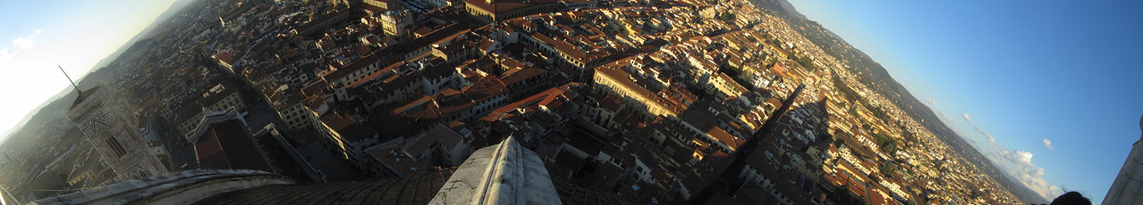 View from the top of the Duomo in Firenze.