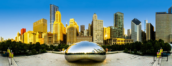 Cloud Gate at Millennium ParkChicago's Silver Bean© Copyright m2 Photography - Michael J. Mikkelson 2013. All Rights Reserved. Images can not be used without permission.