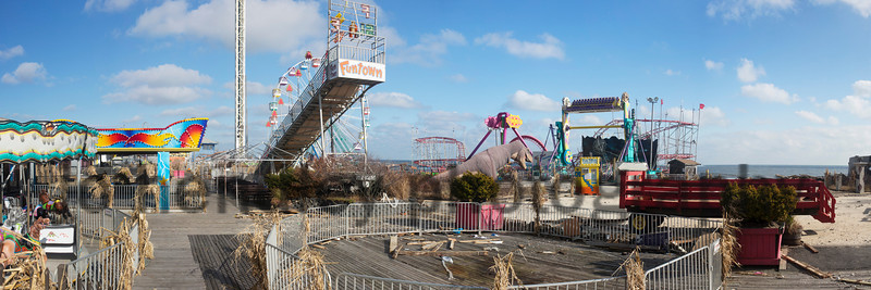Funtown Pier Pano after Sandy