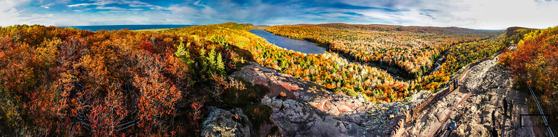 Lake of the Clouds Pole Aerial Photography Panoramic including Lake Superior  © Copyright m2 Photography - Michael J. Mikkelson 2012. All Rights Reserved. Images and/or video can not be used without permission.