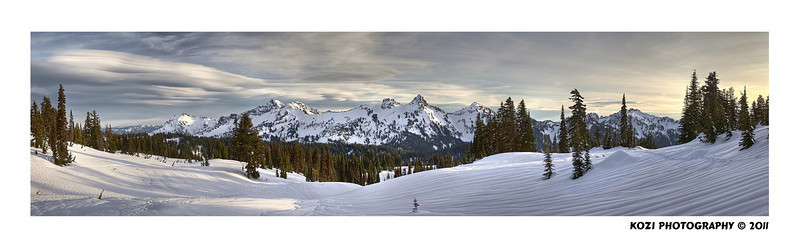 This was a LOT OF WORK, but so worth it in the end!  I really wanted to show the beauty of the Tatoosh Range and the amazing sky that we were fortunate enough to experience.  This is a work of 5 images, 15 exposures, layered and tonemapped for hdr, then stitched together for the pano.