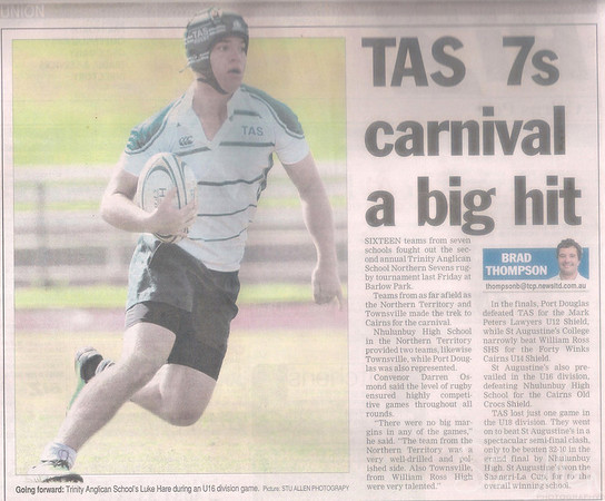 TAS Rugby Sevens Cairns Post Write Up 2011