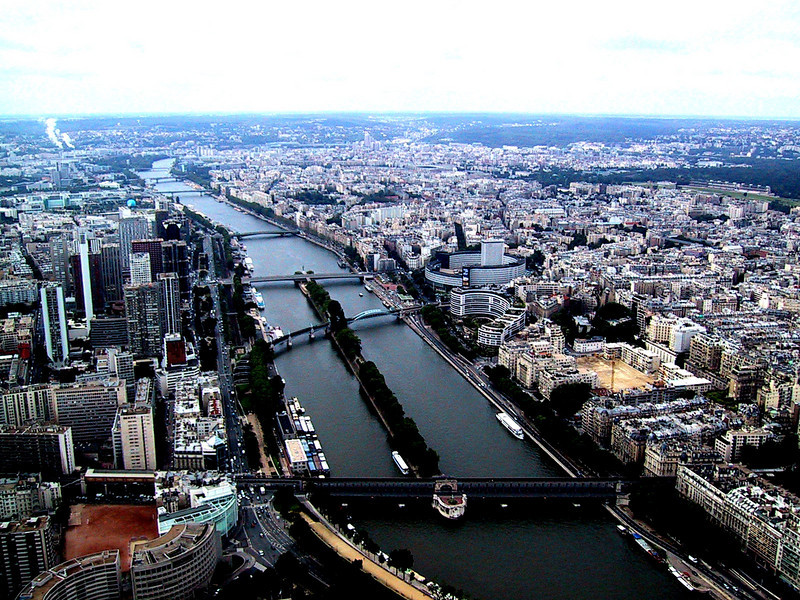 Seine River, Taken from the Eiffel Tower
