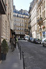 This is the street of our hotel; we are walking to our first business meeting on Monday in Paris.
