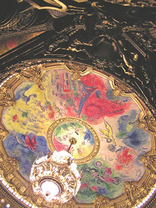 """Not down there.  Up here."" Paris Opera"