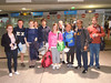 Our arrival at Charles de Gaulle Airport, 7 AM