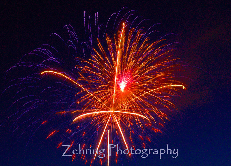 4th of July fireworks, Carson City, Nevada's state capital.