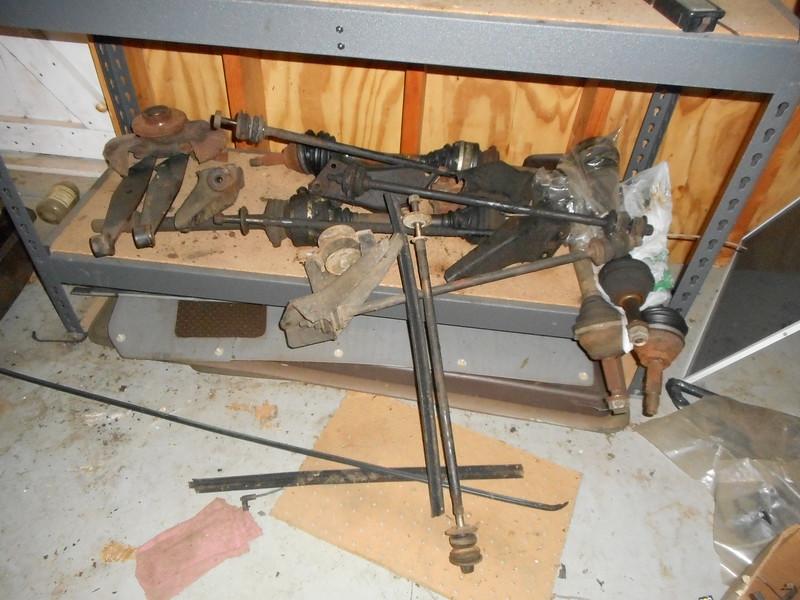 Strada parts, radius rods, CV shafts motor mounts door panels.