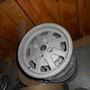 Lancia Beta rims, glass bead bare.  set of 4.