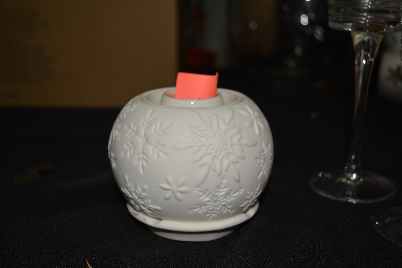 Illuminescents Tealight Holder $10 RETIRED<br /> Ceramic base, top comes off. Comes with fragrance oil to put on top holder. Tealight warms top and gives off scent from oil.
