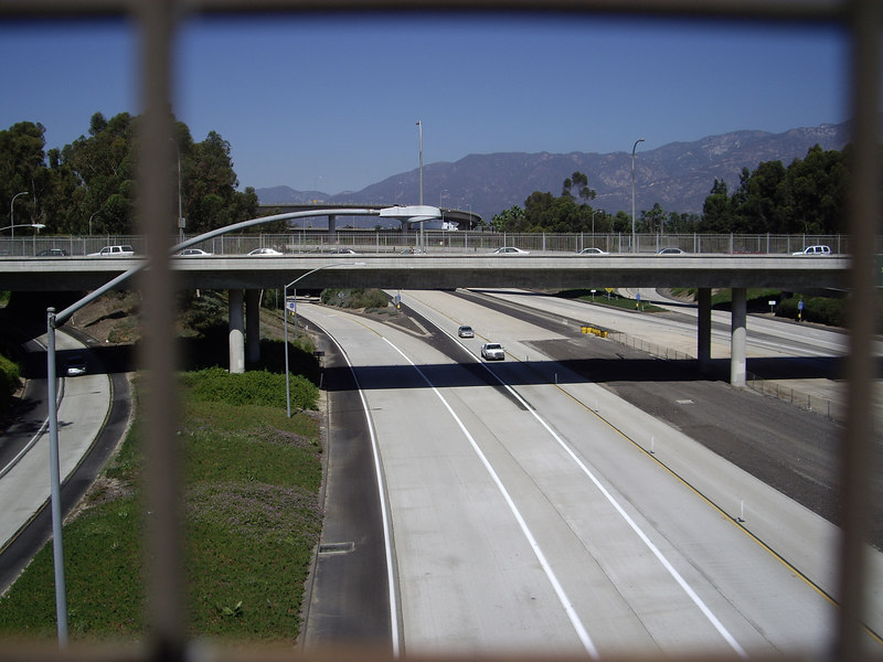 View from Colorado Blvd. over 134/210 interchange.