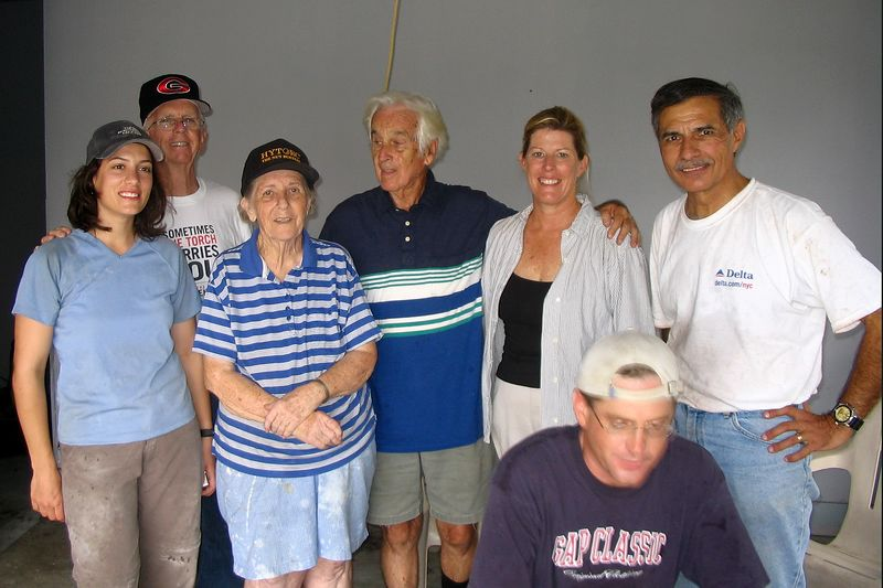 Bob and Evelyn with The Motley Crew.