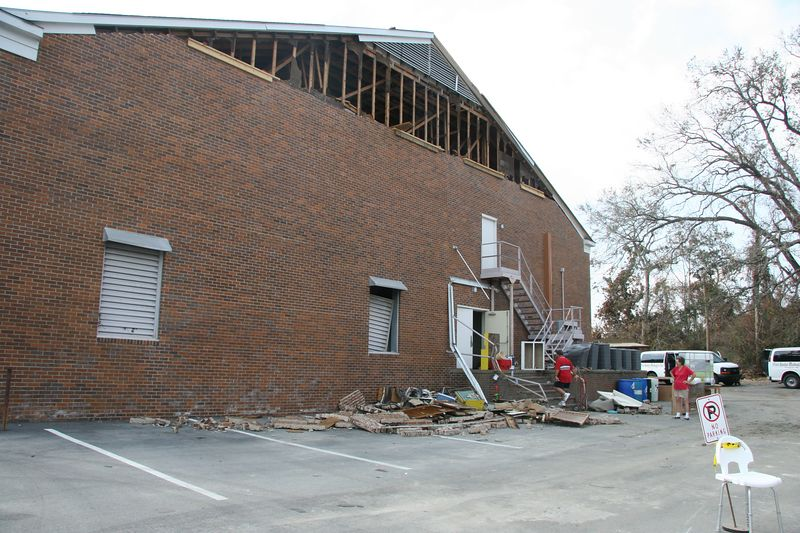 The gymnasium at Pascagoula UMC
