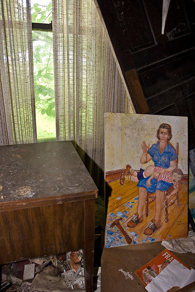 Passings – Painting in living room of abandoned Ohio home<br /> ©2009 Peter Aldrich