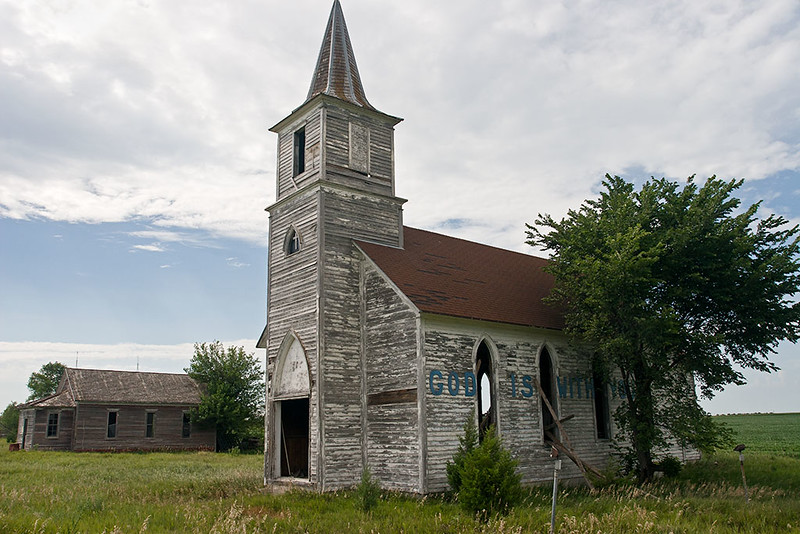 Passings – Abandoned church near Milford, Nebraska<br /> ©2011 Peter Aldrich