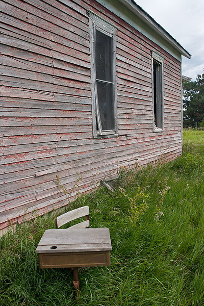 Passings – Old Nebraska schoolhouse and desk<br /> ©2011 Peter Aldrich