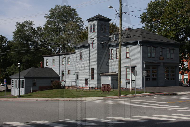 This was the firehouse for the Cheney Brothers mills in Manchester, Ct. It then became station 1 of the South Manchester Fire Dept. It is now home to the Connecticut Fire Museum at 230 Pine St.