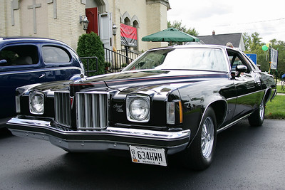 Norma Knipper's 1975 Pontiac Grand Prix at the Past to Present Car Show at First Congregational UCC Church in North Ridgeville. photo by Ray Riedel