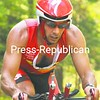 Overall winner Jason Amoriell of Peru comes in at the end of his cycling segment in the Paul Smith's College End of Summer Duathlon Sunday.<br><br>(P-R Photo/Pat Hendrick)