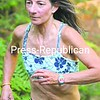 Nancie Battaglia of Lake Placid nears the finish Sunday in the Paul Smith's End-of-Summer Duathlon. She won the overall women's title.<br><br>(P-R Photo/Pat Hendrick)