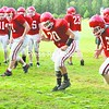 The Saranac Lake Red Storm step up the pace in anticipation of the season opener Saturday at home against the Ticonderoga Sentinels. The Red Storm are the favorites to win Class C while Ticonderoga is the team to beat in Class D. <br><br>(P-R Photo/Pat Hendrick)