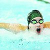 Emily Kemp of Franklin Academy nears victory in the 100-yard butterfly Tuesday in NAC girls' swim opener in Malone.<br><br>(P-R Photo/Pat Hendrick)