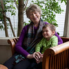 Cindy Chew<br /> 1/29/14<br /> Patricia Hollowell sits with her grandson Cody, 3, at her daughter's home in San Rafael.  Hollowell, who was diagnosed with melanoma in 2012, has seen her tumors go down since undergoing immunotherapy treatment at UCSF.
