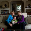 Cindy Chew<br /> 1/29/14<br /> Patricia Hollowell sits with her daughter Teri, grandson Cody, 3, and dog Carla at her daughter's home in San Rafael.  Hollowell, who was diagnosed with melanoma in 2012, has seen her tumors go down since undergoing immunotherapy treatment at UCSF.