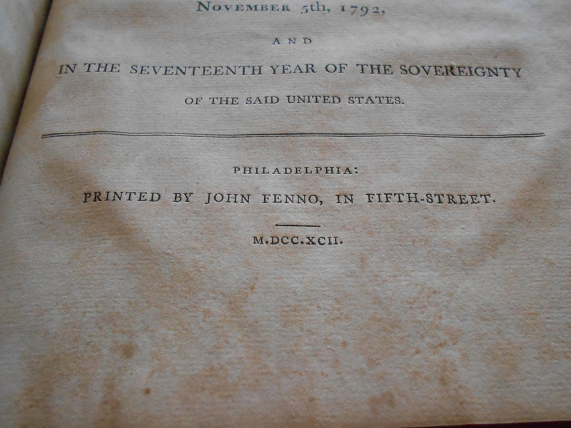 Journal of the Second Confrontational Congress, 1792 and used by Susan Maria Man McCulloch as a scrap book as a young girl.
