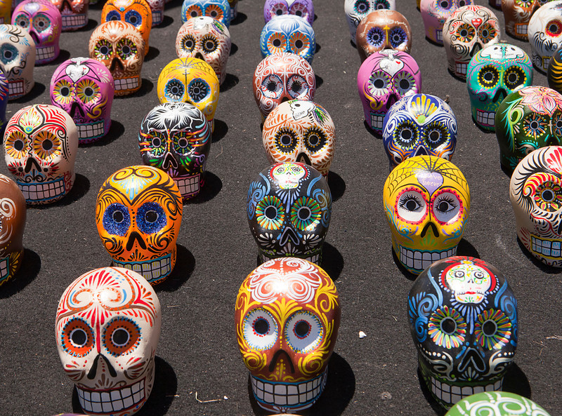 Latin American Painted Skulls