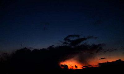 Sunset and Venus