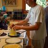 Paul making sushi