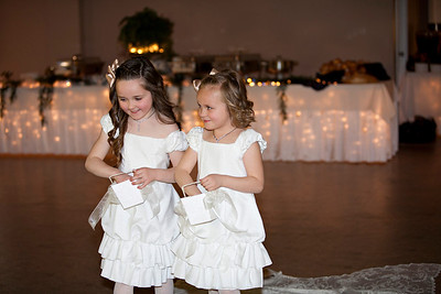 They were thrilled with their role...they dropped the flowers on the way down the isle then also on the way out!