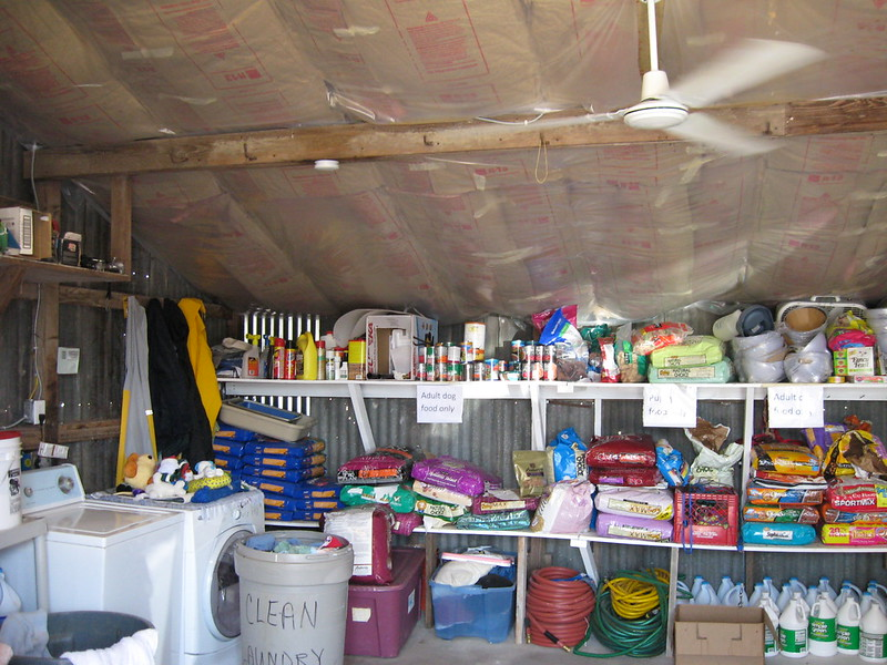laundry and supplies room