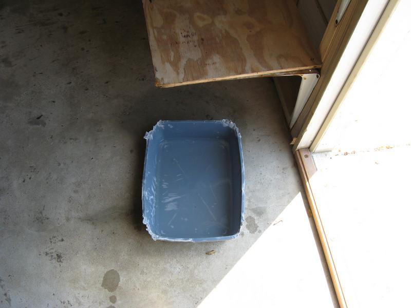 bleach foot bath for puppy quarantine area