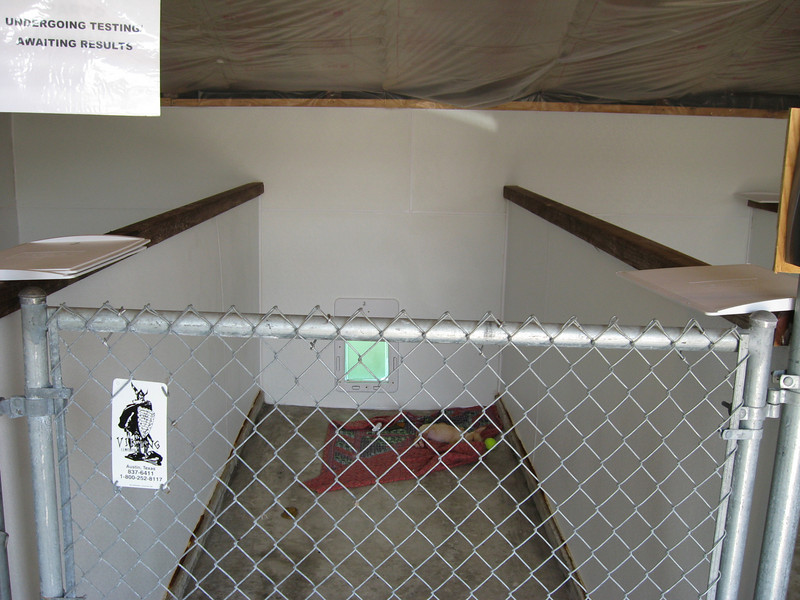 puppy quarantine area